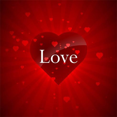 Vecteur de fond coloré de coeur amour