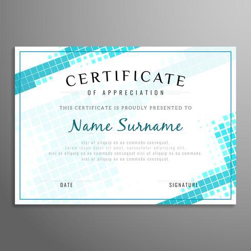 Certificat abstrait vecteur