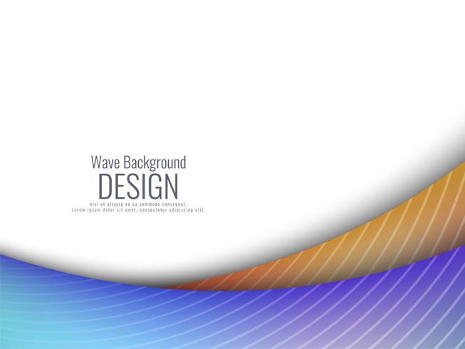 Abstrait coloré ondulé moderne vecteur