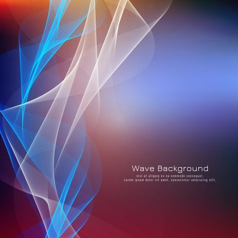 Design de fond abstrait vague colorée vecteur