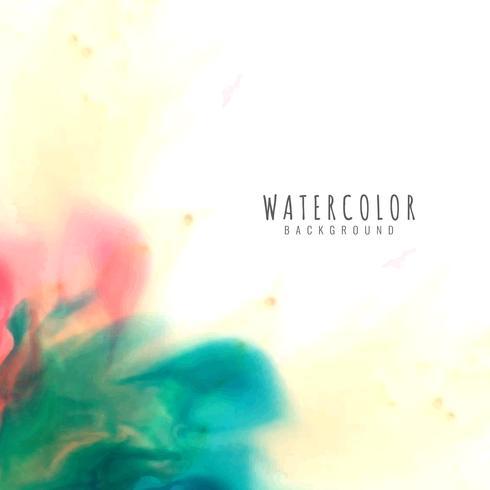 Abstrait coloré aquarelle élégante vecteur