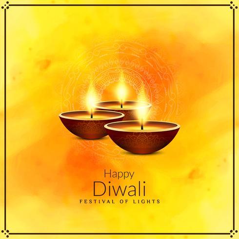 Abstrait joyeux festival de Diwali salutation vecteur