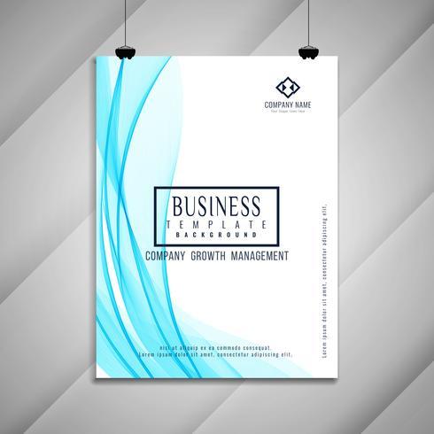 Conception de modèle de brochure abstrait affaires ondulées vecteur