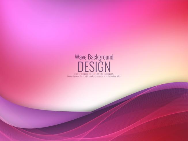 Abstrait élégant fond coloré ondulé vecteur