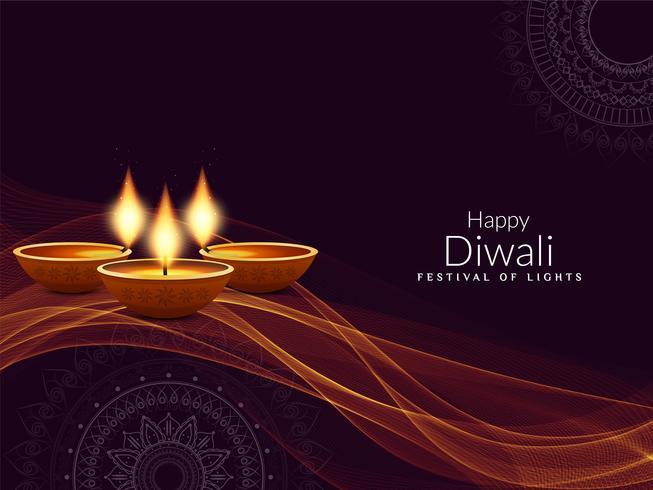 Abstrait religieux élégant Diwali heureux vecteur