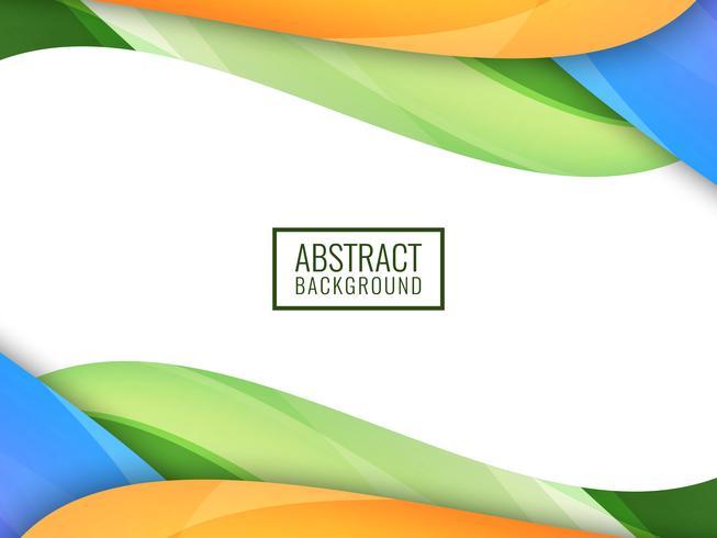 Abstrait coloré ondulé coloré vecteur