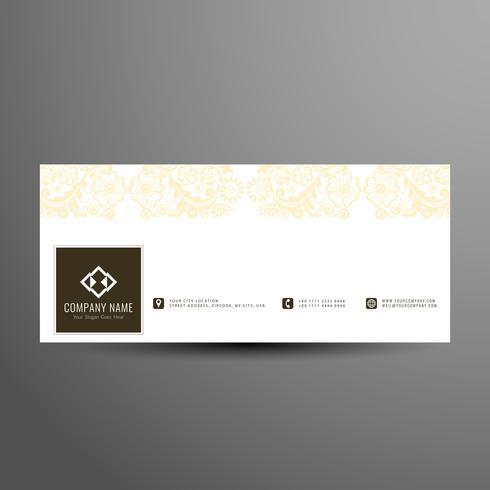 Modèle de couverture abstrait facebook moderne design floral timeline vecteur