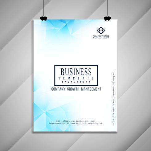 Conception de modèle géométrique abstrait business brochure vecteur