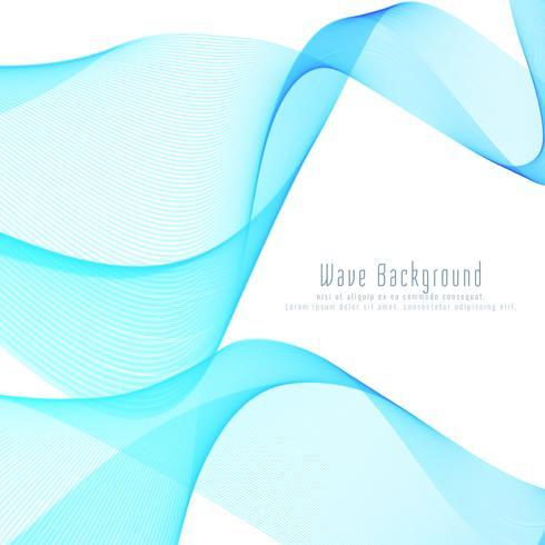 Abstrait vague bleue styish vecteur