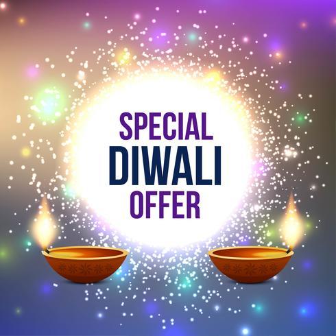 Résumé de l'offre de vente Happy Diwali vecteur