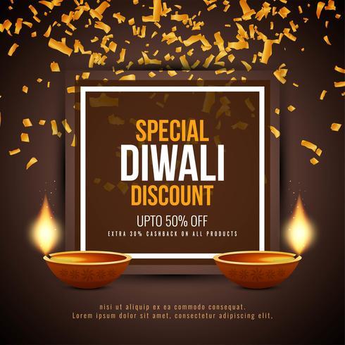 Abstrait Happy Diwali offre de réduction fond vecteur