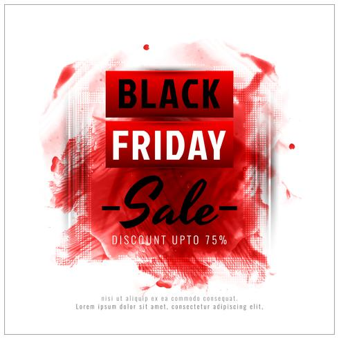 Abstrait vente de vendredi noir vecteur