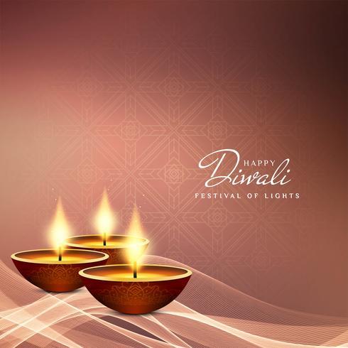 Résumé festival de joyeux Diwali vecteur