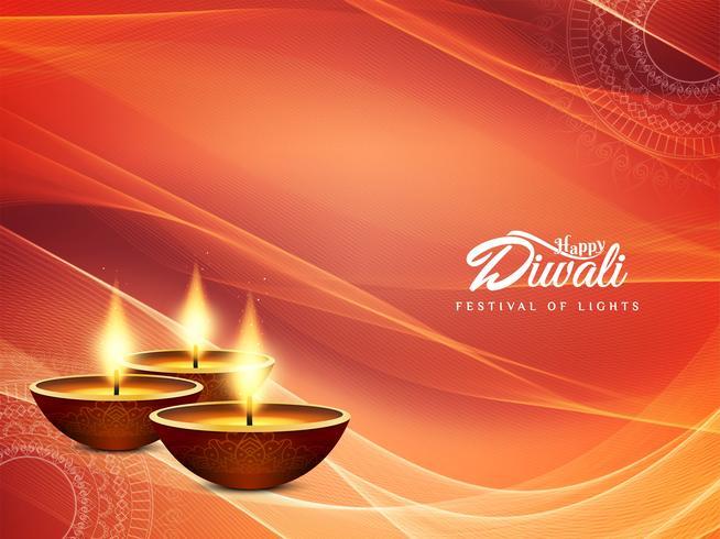 Résumé historique de joyeux festival joyeux Diwali vecteur