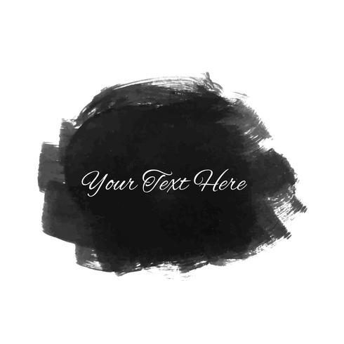 Dessin abstrait aquarelle noir vecteur