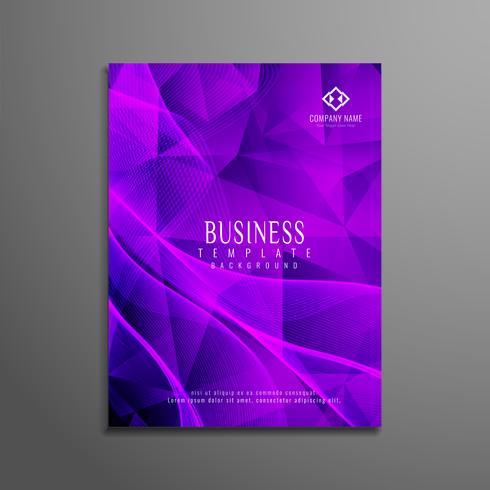 Modèle de brochure entreprise géométrique abstraite vecteur