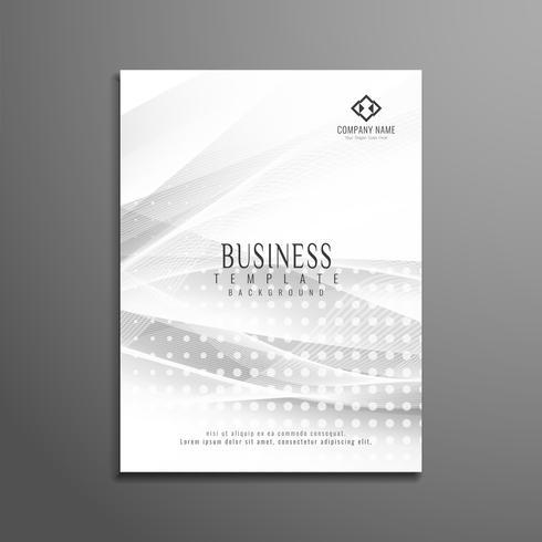Modèle de brochure abstrait affaires ondulées gris vecteur