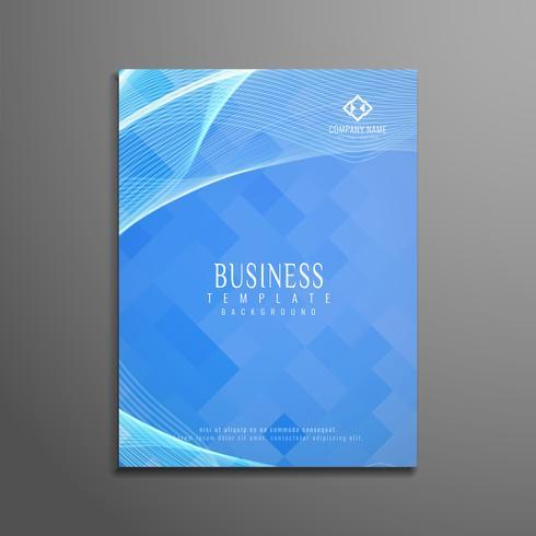 Modèle de brochure abstrait affaires ondulées élégant vecteur