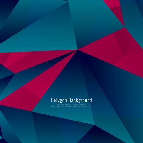 Abstrait polygonale élégant vecteur