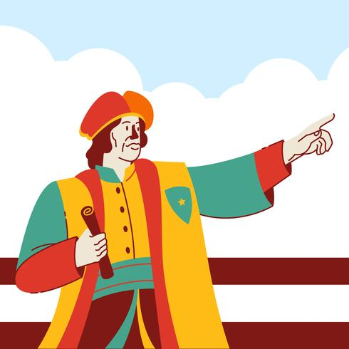 Illustration vectorielle de Columbus Day National USA Holiday Concept vecteur