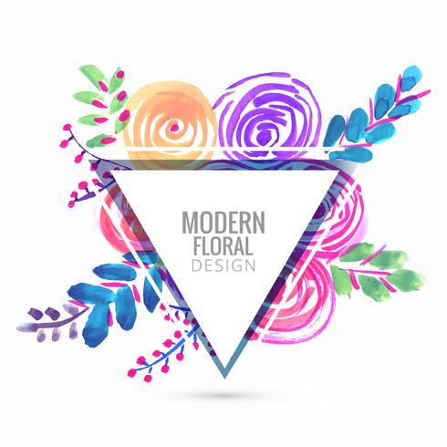 Vecteur abstrait fond floral coloré