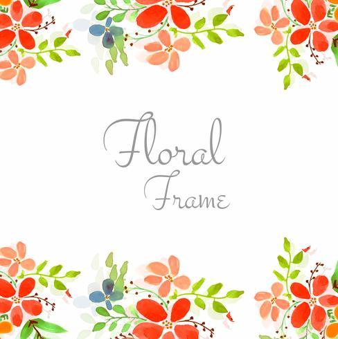 Fond floral abstrait carte de mariage coloré vecteur