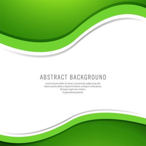 Abstrait vague verte élégante vecteur
