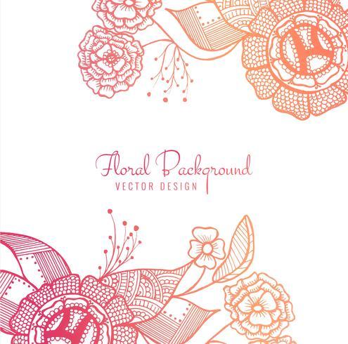 Abstrait coloré artistique design floral vecteur