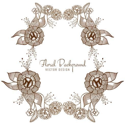 Vecteur de design floral de mariage artistique moderne