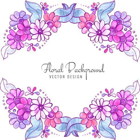 Fond floral coloré de beau mariage décoratif vecteur