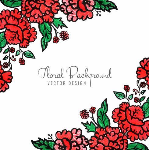 Vecteur de beau fond floral décoratif