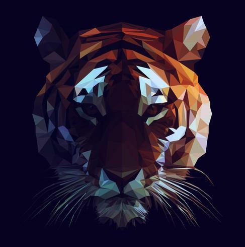 Tigre Basse Poly vecteur