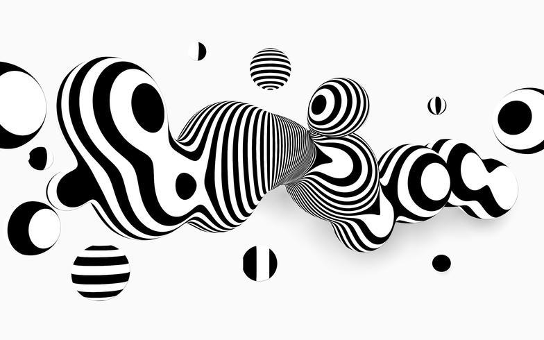Fond abstrait vector noir et blanc