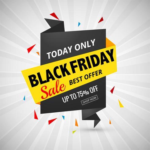 Belle conception de bannière affiche abstrait vente vendredi noir vecteur