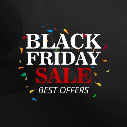 Illustration vectorielle de vendredi noir vente affiche design vecteur