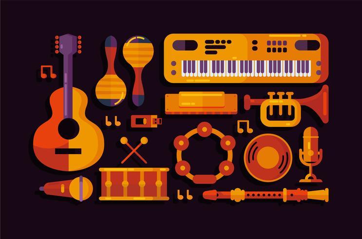 Vecteur d'instrument de musique