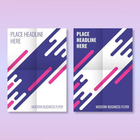 Modèle de mise en page moderne de conception de brochure d'entreprise de couverture de prospectus vecteur