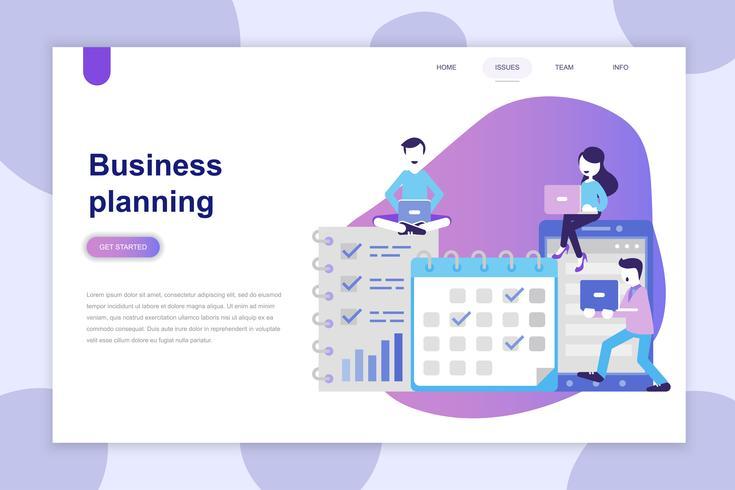Concept de design plat moderne de Business Planning pour site Web et site Web mobile. Modèle de page de destination. Peut utiliser pour la bannière Web, infographie, images de héros. Illustration vectorielle vecteur