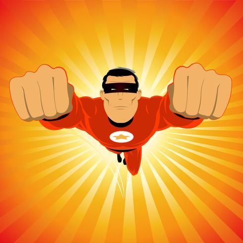 Super-héros rouge comique vecteur