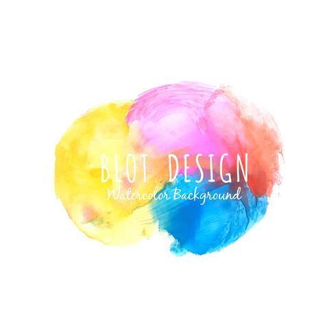 Aquarelle colorée abstraite tache fond de design élégant vecteur