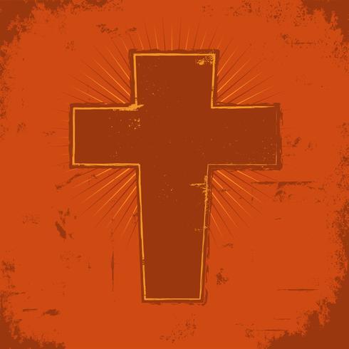 Croix chrétienne vecteur