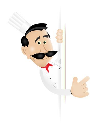 Signe vierge de chef cuisinier vecteur