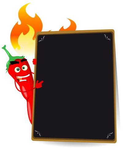 Menu chaud aux épices vecteur