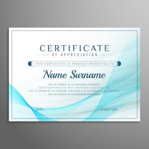 Certificat abstrait élégant fond de conception de certificat vecteur