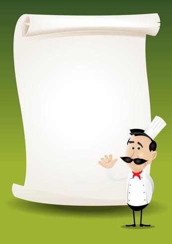 Fond de menu affiche du restaurant Chef vecteur