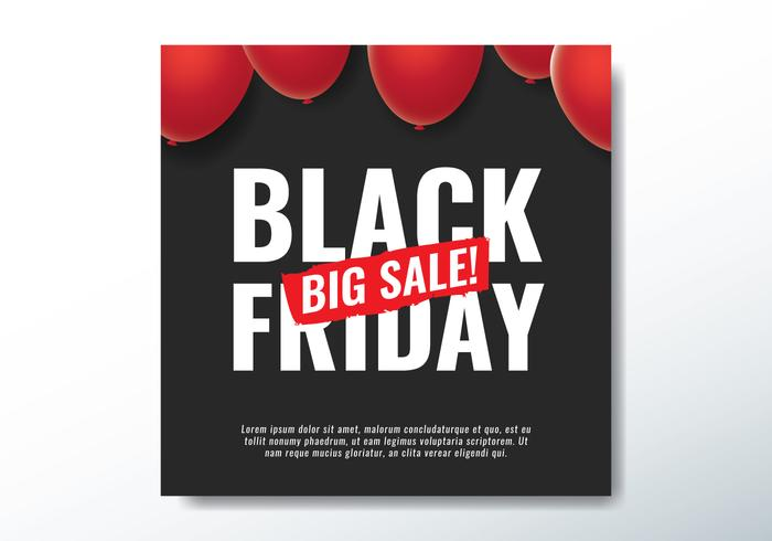 Black Friday Grande Vente vecteur