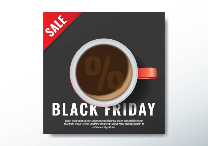 Vendredi noir tasse de café vecteur