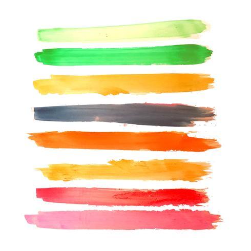 Aquarelle main coloré dessiner le coup set design vecteur