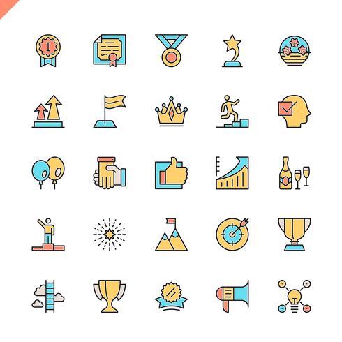 Icônes d'éléments de réalisation pour les sites Web, les sites mobiles et les applications. Esquisser la conception des icônes. 48x48 Pixel Parfait. Pack de pictogrammes linéaires. Illustration vectorielle vecteur