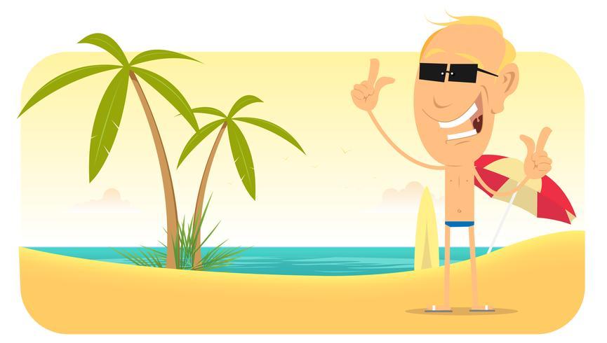 Bannière Summer Beach Vacations vecteur
